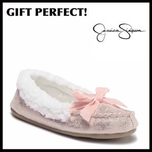 ❤️GIFT PERFECT❤️JESSICA SIMPSON COZY LINED SLIPONS
